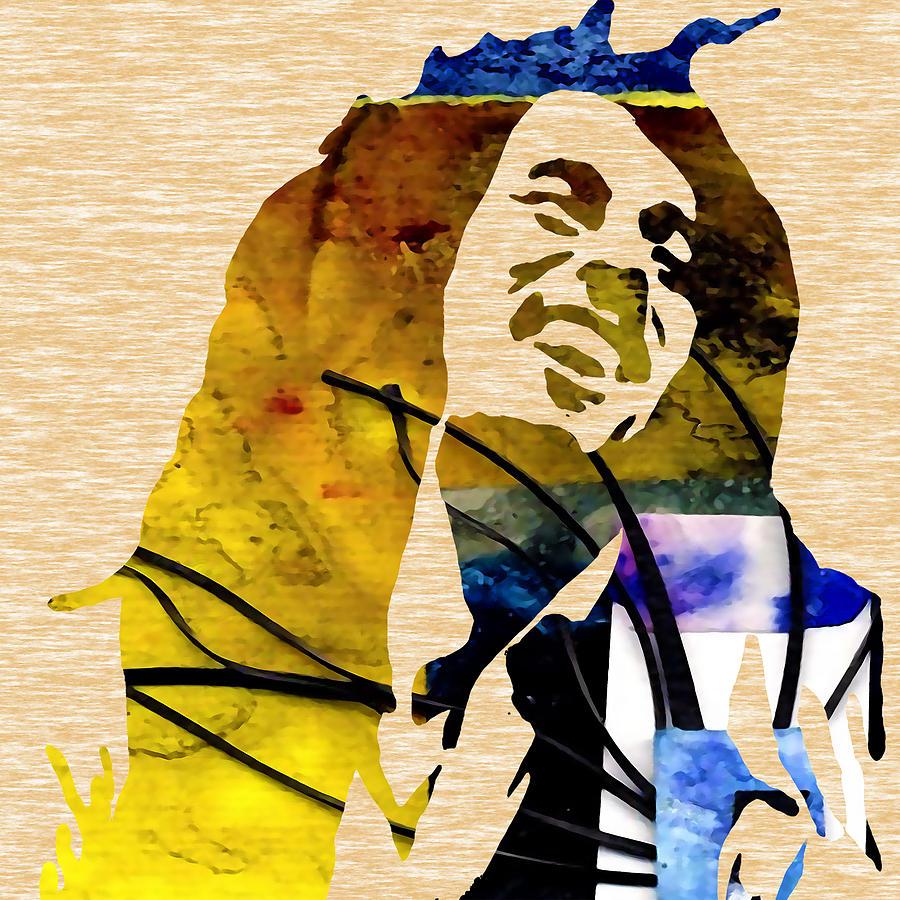 Bob Marley Mixed Media by Marvin Blaine