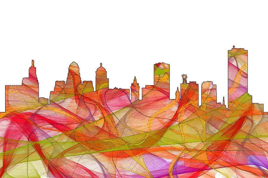 Landscape Digital Art - Buffalo New York Skyline by Marlene Watson