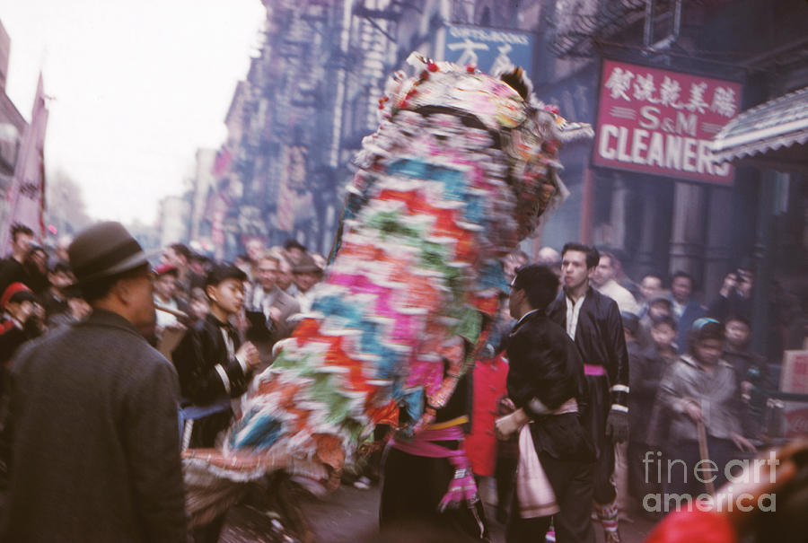 China Photograph - Chinese New Year 1963 by The Harrington Collection
