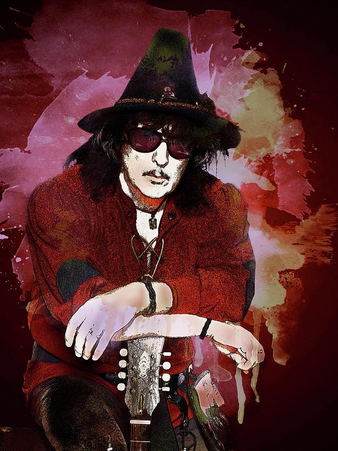 Deep Purple Digital Art - Deep Purple. Ritchie Blackmore. by Lilia Kosvintseva