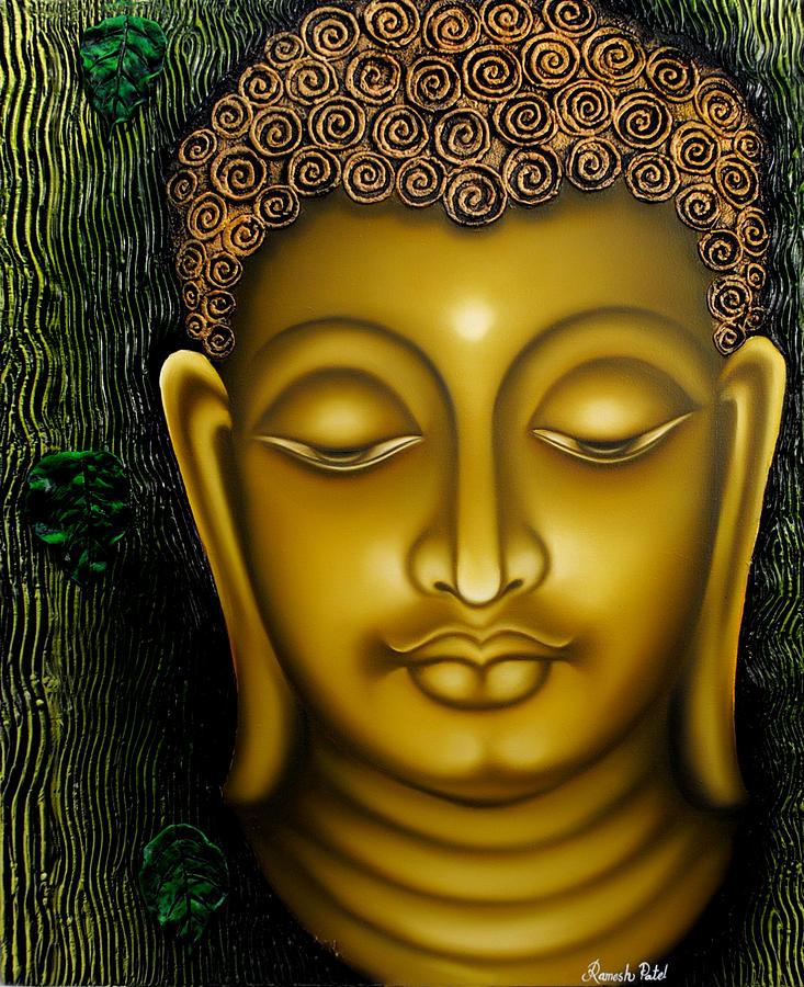 lord buddha painting by ramesh patel