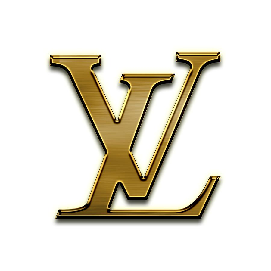 Louis Vuitton Logo Gold