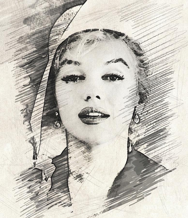 Marilyn Monroe By John Springfield Drawing