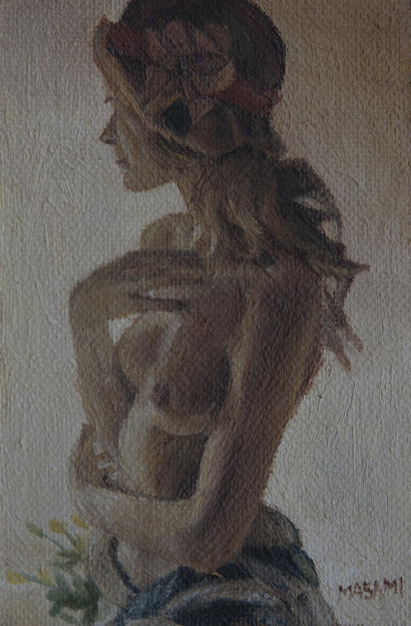 Nude Painting - Modesty by Masami Iida