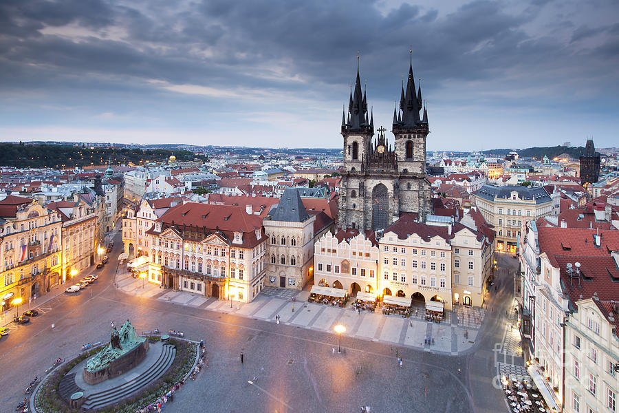 Architecture Photograph - Prague Old Town Square by Andre Goncalves