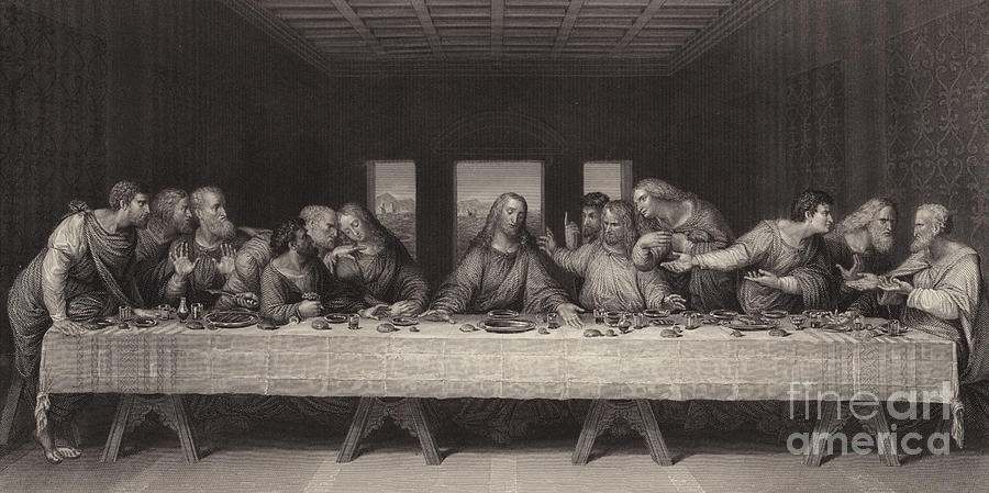 The Last Supper Painting - The Last Supper by S Martin