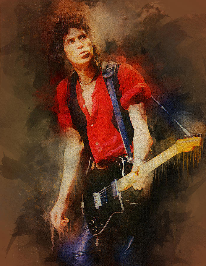 The Rolling Stones Digital Art - The Rolling Stones. Keith Richards. by Lilia Kosvintseva
