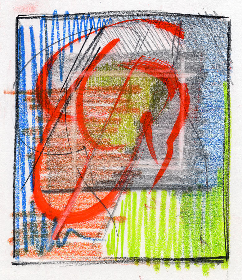 Abstract Drawing - Rcnpaintings.com by Chris N Rohrbach