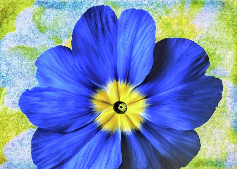 Blue Primrose by Bill Johnson