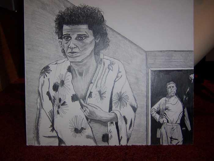 Man Drawing - Mental Abuse by Sherri Ward