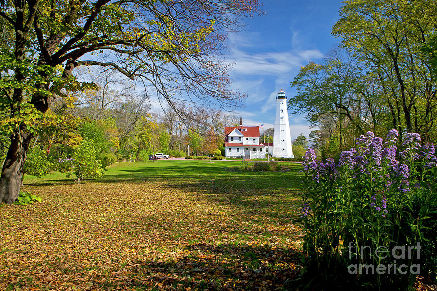North Photograph - 1406 North Point Lighthouse by Steve Sturgill