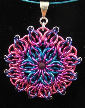 1407 Aqua Rose Mandala by Dianne Brooks