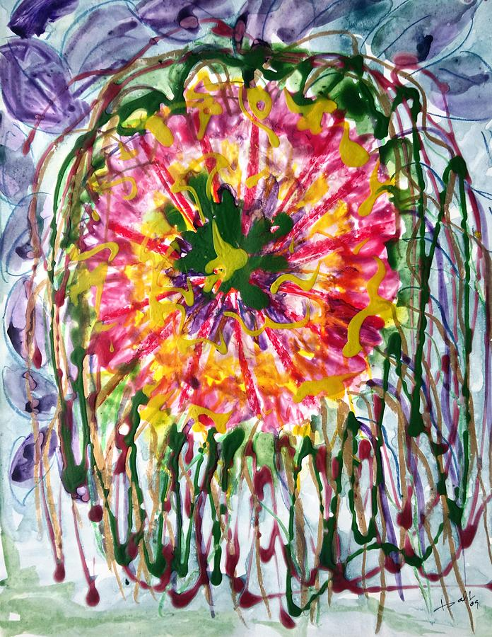 Abstract Painting - Divine Flowers by Baljit Chadha