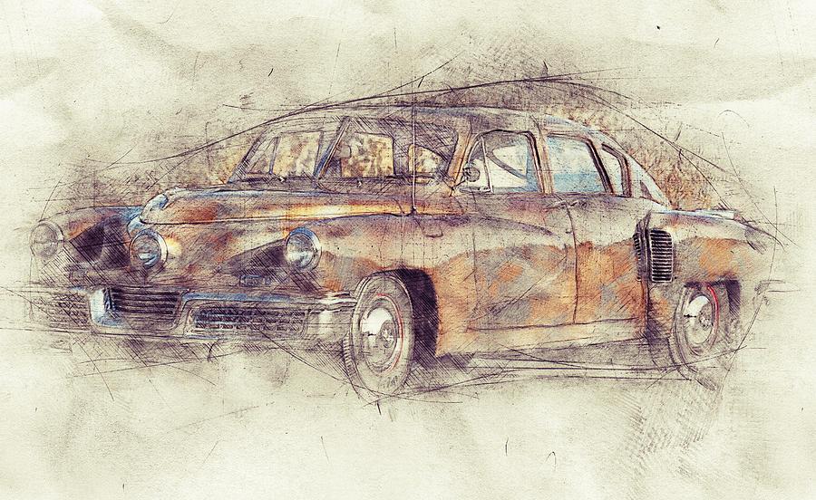 148 Tucker Torpedo - Tucker Sedan - Tucker 48 - 1948 - Automotive Art - Car Posters Mixed Media
