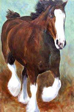 Clydesdale Painting - Clydesdale by Cherri Lamarr