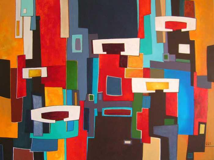 Abstract Painting - On My Day Off by Lili Vanderlaan