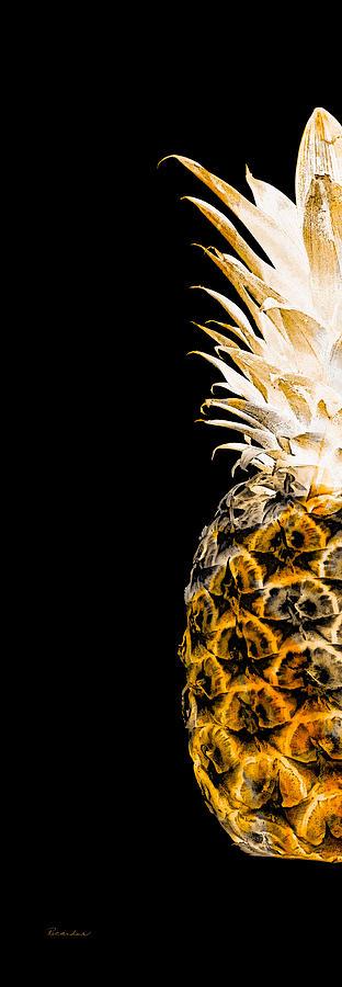 14ol Artistic Glowing Pineapple Digital Art Orange Digital Art by Ricardos Creations