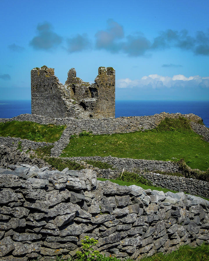 Ireland Photograph - 14th Century Obriens Castle Aran Islands by James Truett