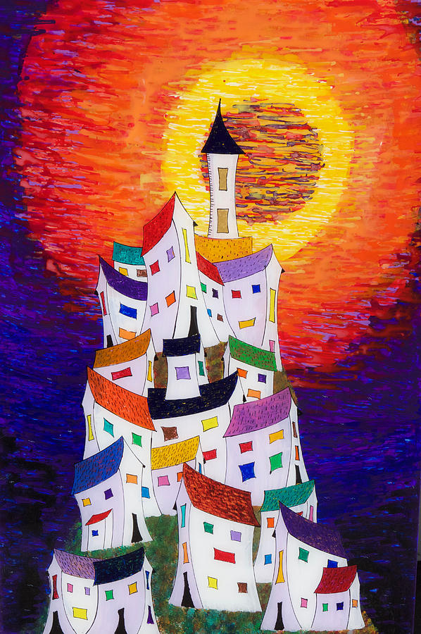 Abstract Painting - 15-22 Sun Village by Patrick OLeary
