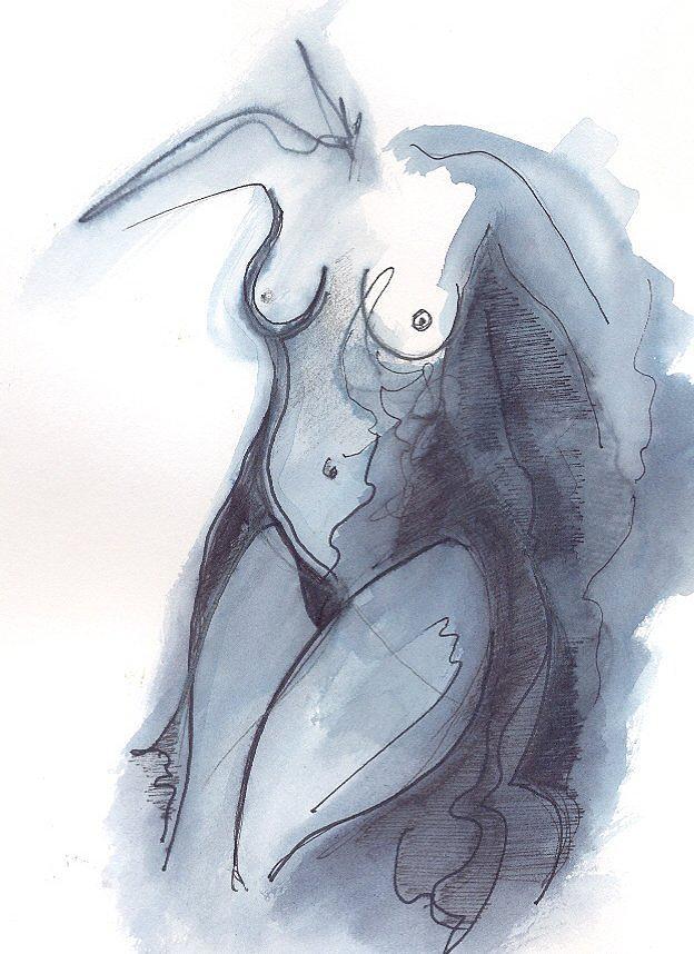 Abstract Art Drawing by Rakyul - Raul Augusto Silva Junior