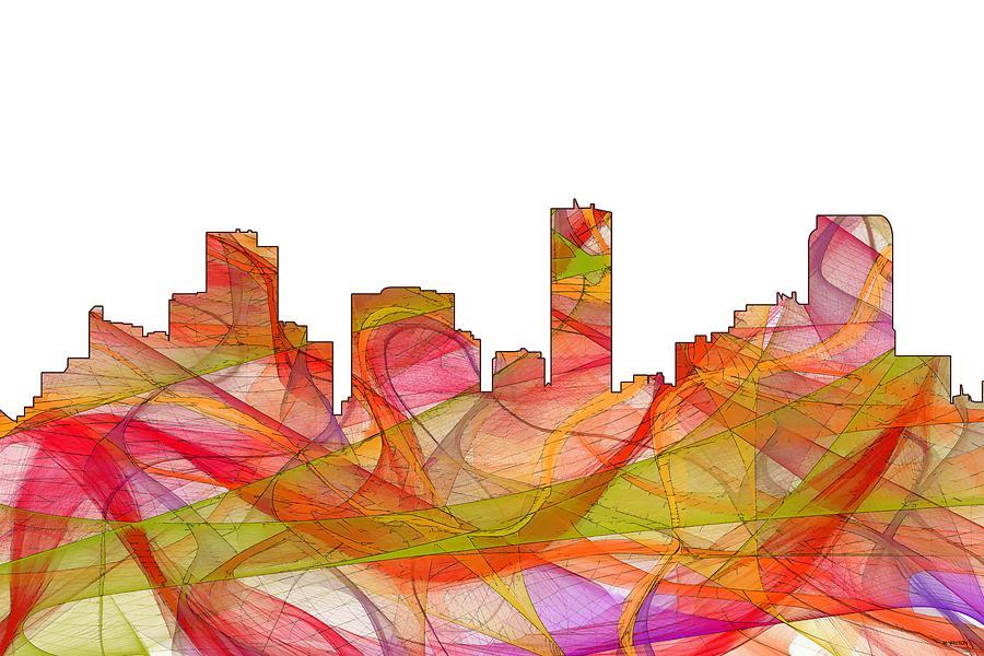 Landscape Digital Art - Denver Colorado Skyline by Marlene Watson
