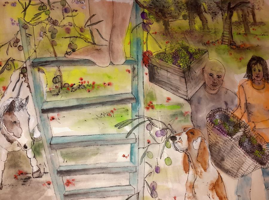 my Apuglia dream album Painting by Debbi Saccomanno Chan