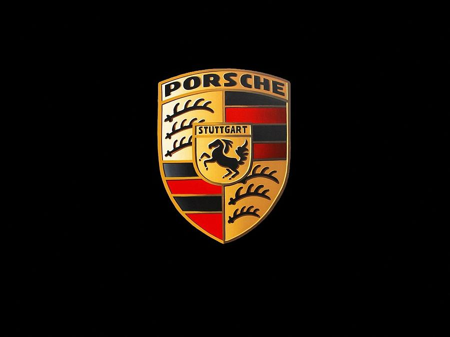 porsche logo digital art by max dedrick. Black Bedroom Furniture Sets. Home Design Ideas