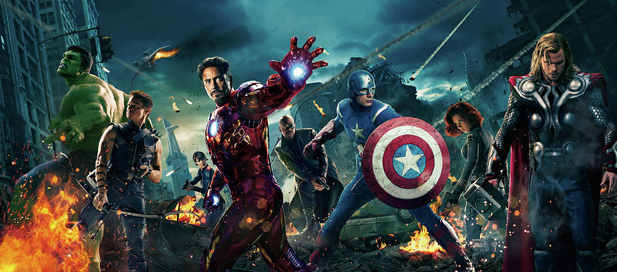 Captain America Digital Art - The Avengers 2012 by Geek N Rock