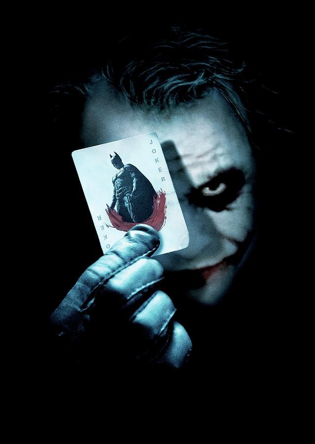 Batman Digital Art - The Dark Knight 2008  by Geek N Rock