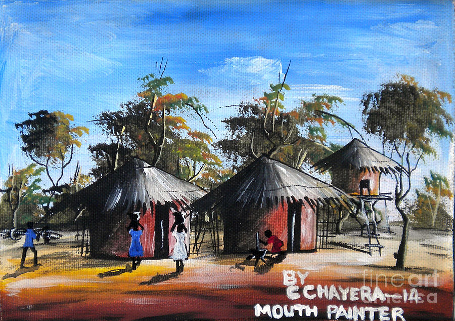 African Painting - Untitled by Chrisfold Chayera