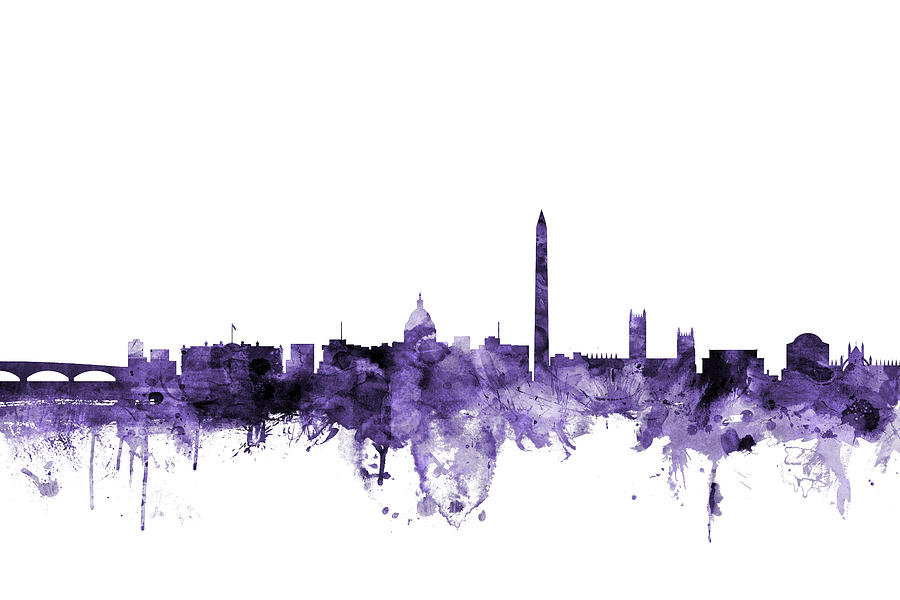 Skyline Digital Art - Washington Dc Skyline by Michael Tompsett