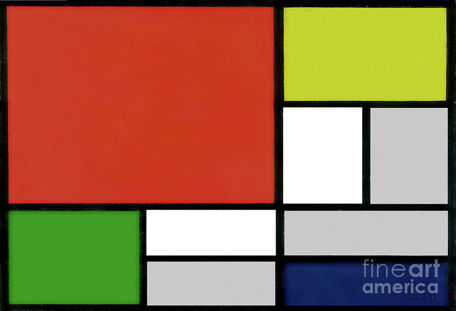 15g Abstract Painting Geometric Digital Art Painting by Ricardos Creations