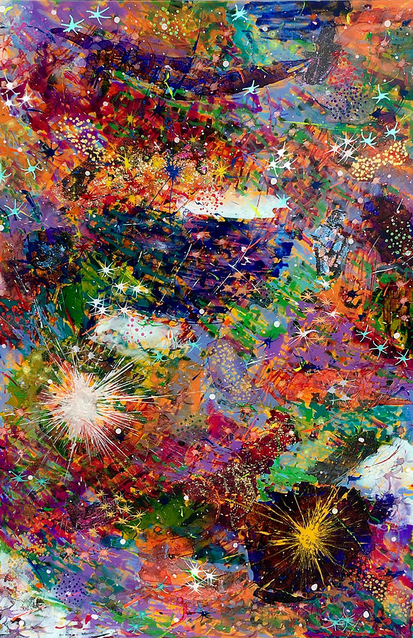Abstract Painting - 16-3 Red Space by Patrick OLeary