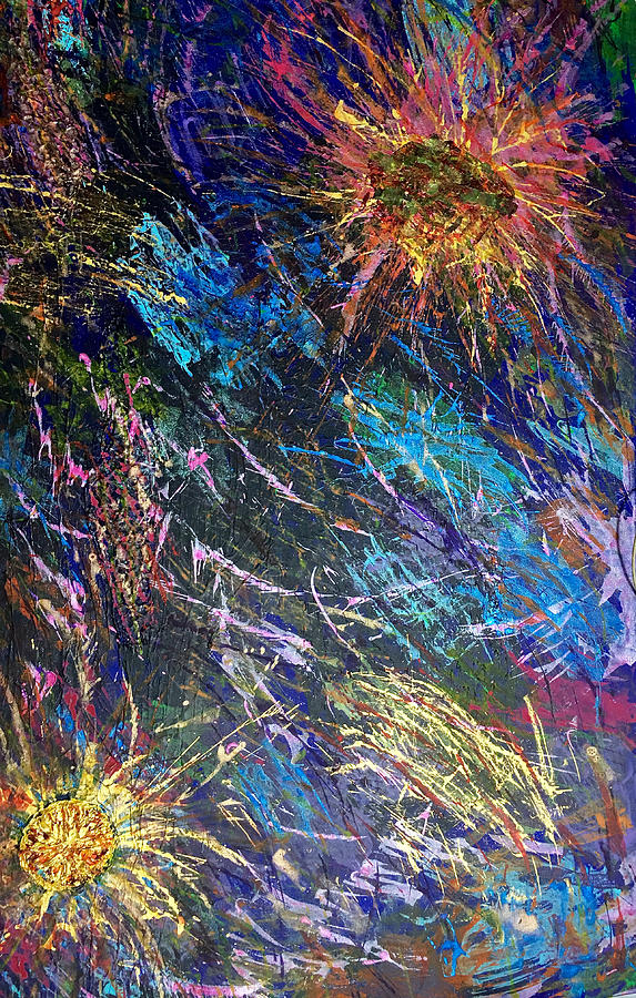 Acrylic Painting - 16-4 Space Explosion Canvas by Patrick OLeary
