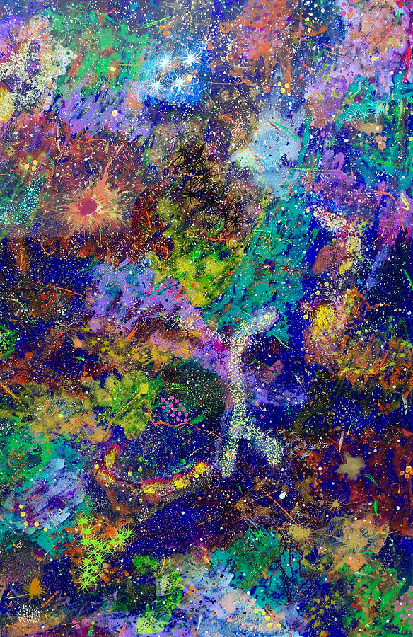 Abstract Painting - 16-6 Lambda Sky by Patrick OLeary