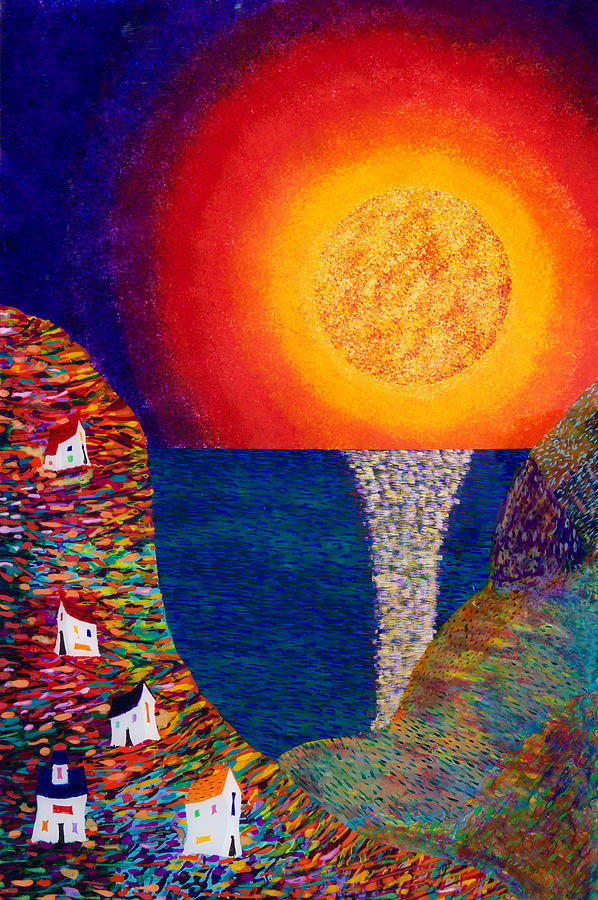 Abstract Painting - 16-7 Village Sun by Patrick OLeary