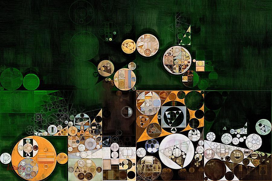 Handmade Digital Art - Abstract Painting - Dark Jungle Green by Vitaliy Gladkiy