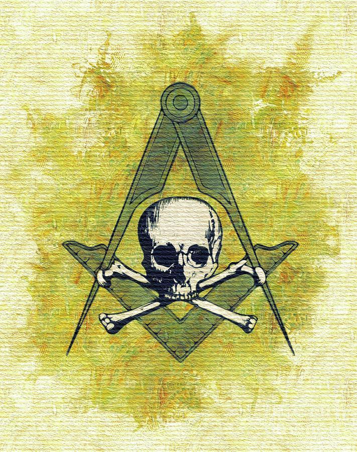 Eye Painting - Freemason, Masonic, Symbols by Pierre Blanchard