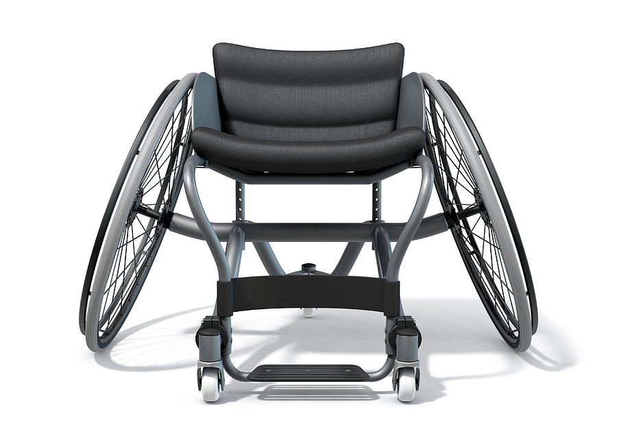 Wheelchair Digital Art - Sports Wheelchair by Allan Swart
