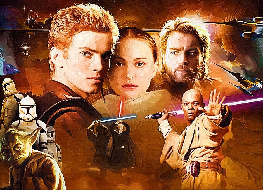 Star Wars Characters Poster Digital Art by Larry Jones