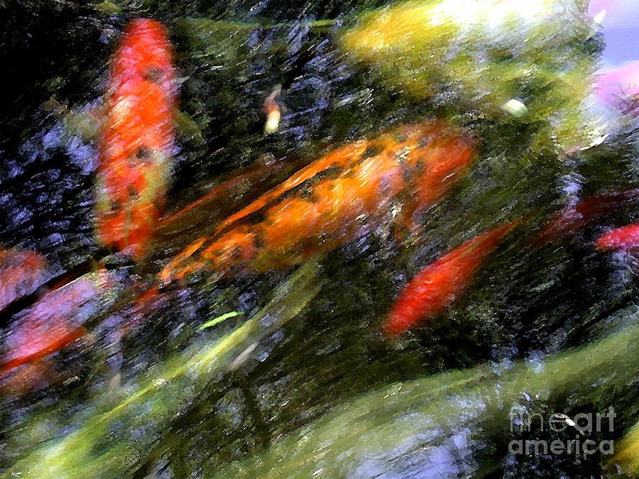 Koi Photograph - The Koi Pond by Marc Bittan
