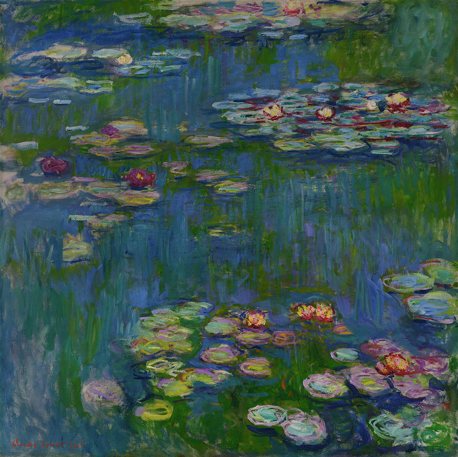 Water Lilies Painting - The Water Lilies by Claude Monet
