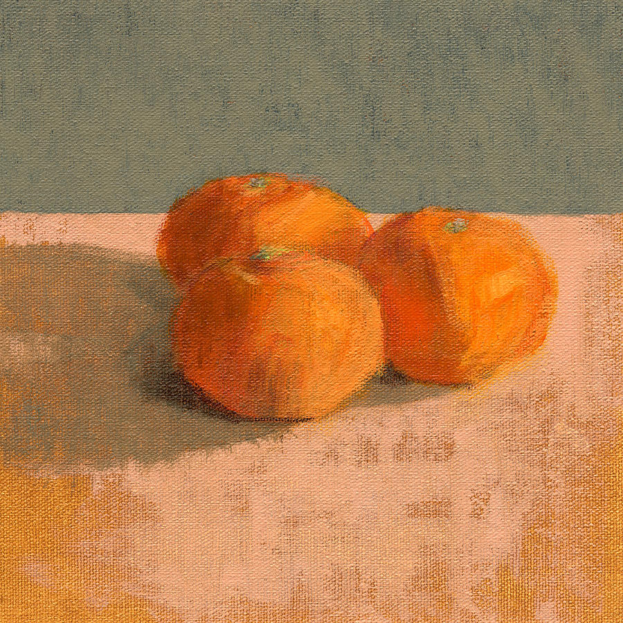 Orange Painting - Rcnpaintings.com by Chris N Rohrbach
