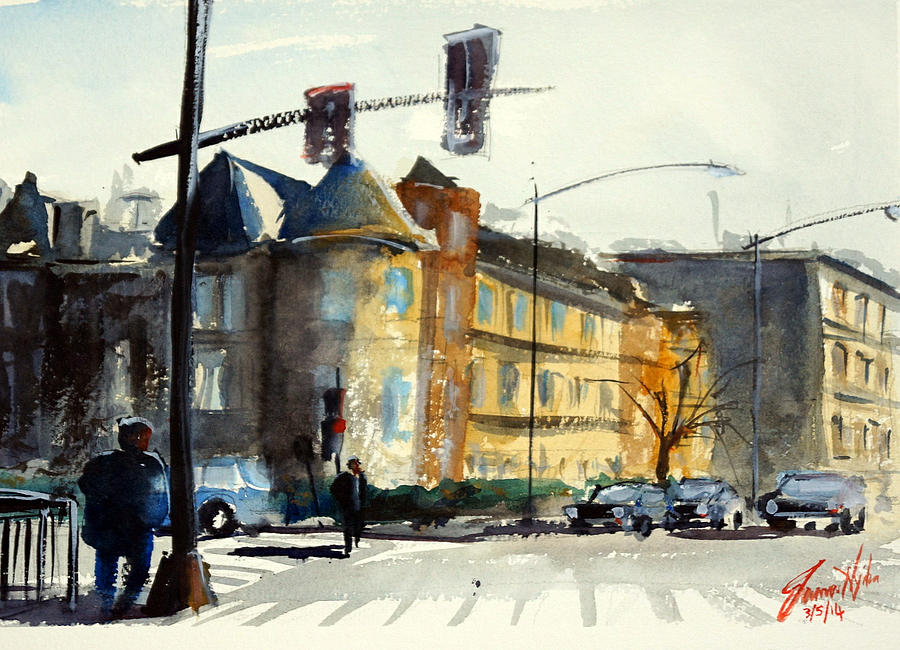 16th Painting - 16th Street Nw Dc by James Nyika