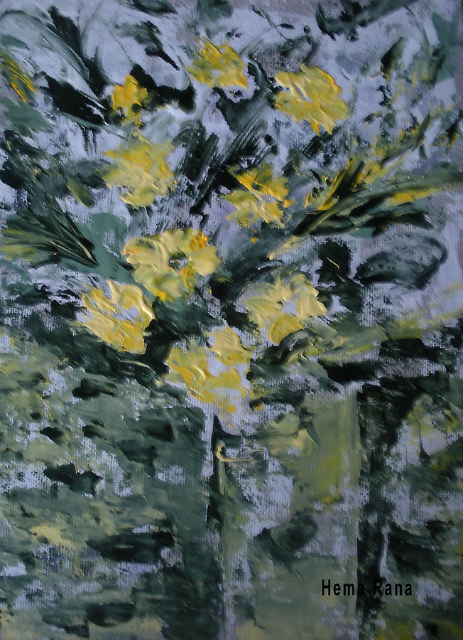 Flowers Painting - Abstract Flowers by Hema Rana