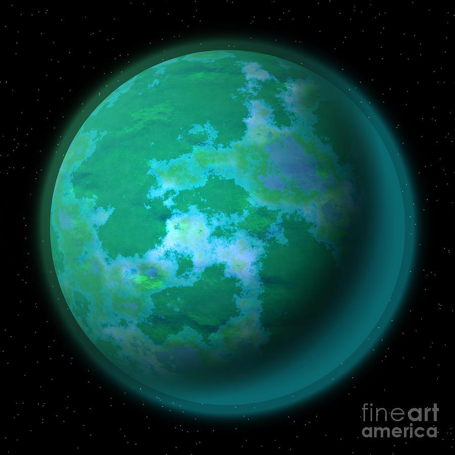 Abstract Planet Digital Art