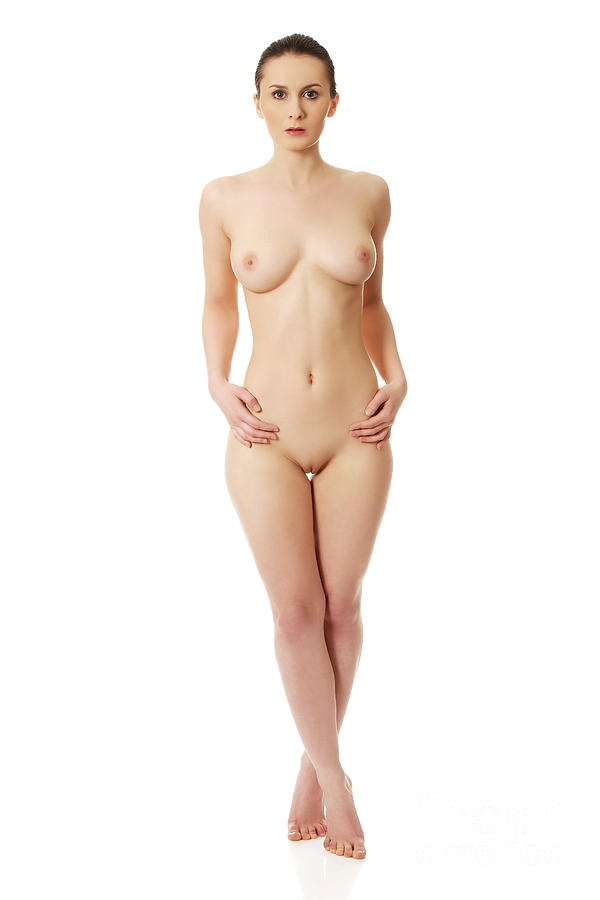 Young Nude Woman Sitting On Knees Wall Mural