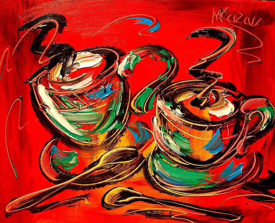 Landscape Framed Prints Painting - Coffee by Mark Kazav