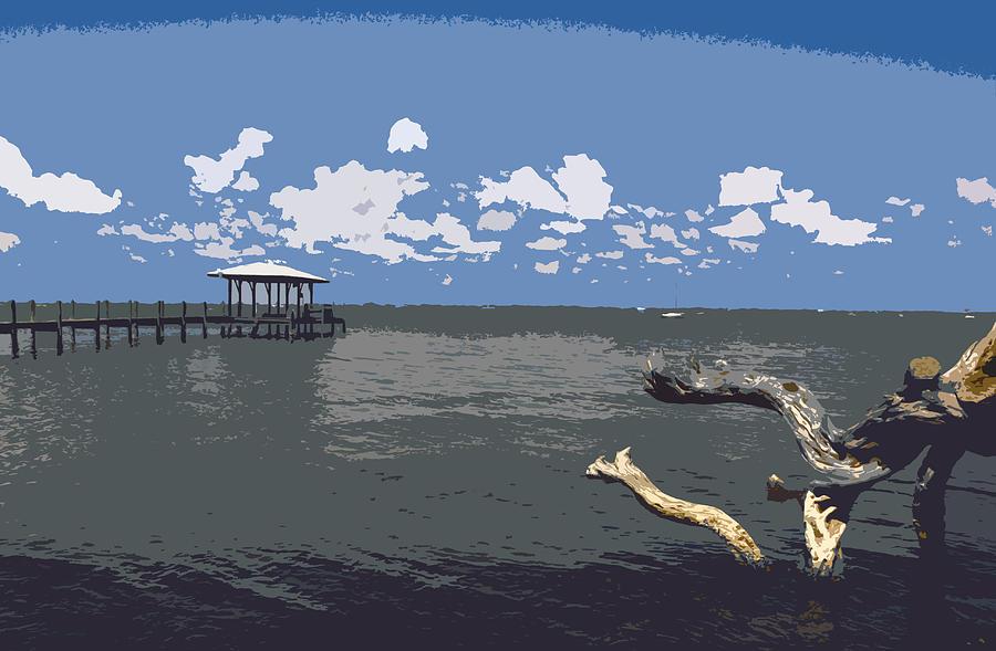 Lagoon Painting - Indian River Lagoon by Allan  Hughes