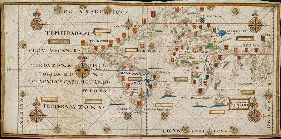 Map - Celestial Map- Old Map - Vintage Art Wall - World Map - Circa ...